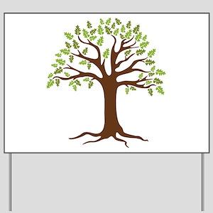 Oak Tree Yard Sign