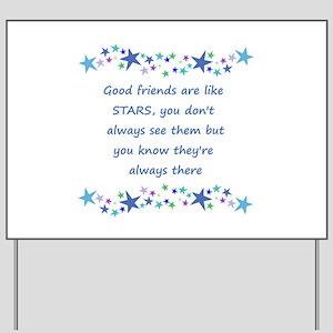 Good Friends are like Stars Inspirational Quote Ya