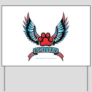 Agility Paw Tattoo Yard Sign