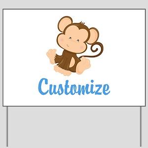 Custom Monkey Yard Sign