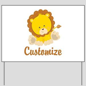 Custom Baby Lion Yard Sign