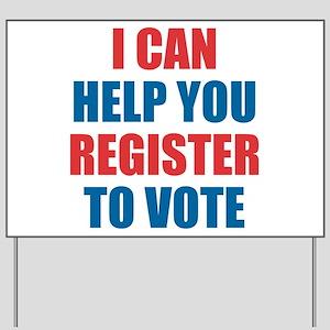 I CAN HELP YOU REGISTER TO VOTE VOLUNTEER VOTER Ya