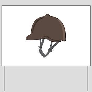 Jockey Helmet Yard Sign