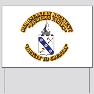 COA - 8th Infantry Regiment Yard Sign