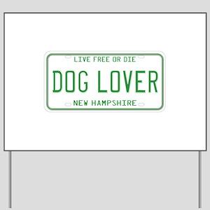New Hampshire Dog Lover Yard Sign