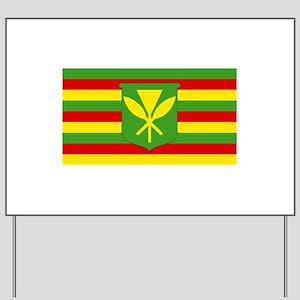 Kanaka Maoli Flag - Hawaiian Independenc Yard Sign