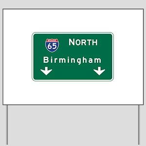 Birmingham, AL Road Sign, USA Yard Sign
