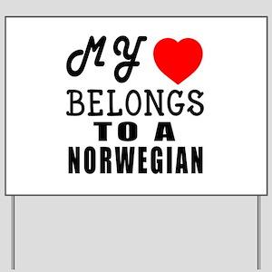 I Love Norwegian Yard Sign