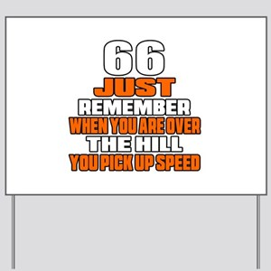 66 Just Remember Birthday Designs Yard Sign