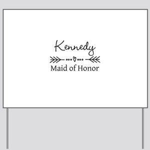 Bridal Party Personalized Yard Sign