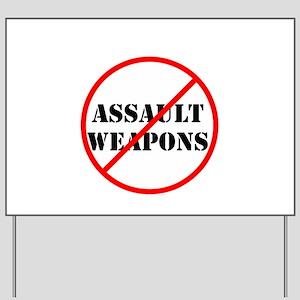 No assault weapons, gun control Yard Sign