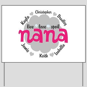 Personalize Nana, MiMi Mamaw Yard Sign