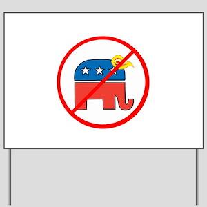 No Trump, Republican elephant Yard Sign