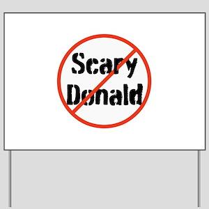 Scary Donald Trump Yard Sign