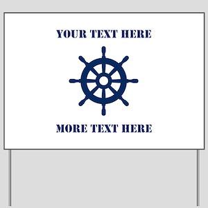 Custom Nautical Theme Wedding Direction Yard Sign