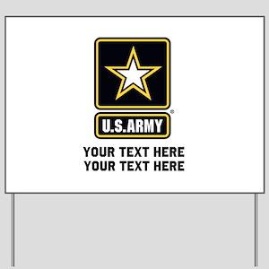 US Army Star Yard Sign