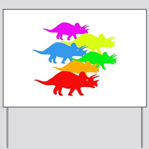 Triceratops Family Yard Sign