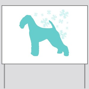 Airedale Terrier Snowflake Yard Sign