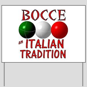 Bocce Yard Sign