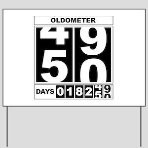 50th Birthday Oldometer Yard Sign
