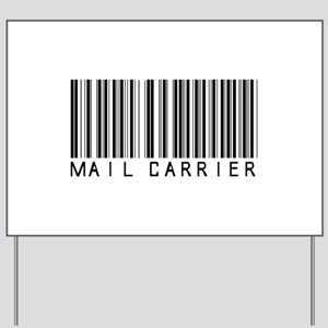 Mail Carrier Barcode Yard Sign