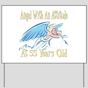 Angel Attitude 55th Yard Sign