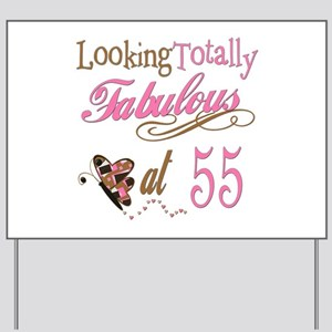 Fabulous 55th Yard Sign