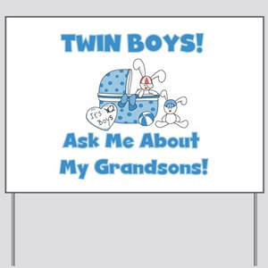 Grandma Twin Boys Yard Sign