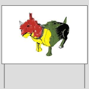 Reggae Dog Yard Sign
