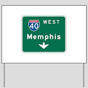 Memphis, TN Highway Sign Yard Sign