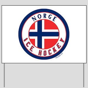 NO Norway/Norge Ice Hockey Yard Sign