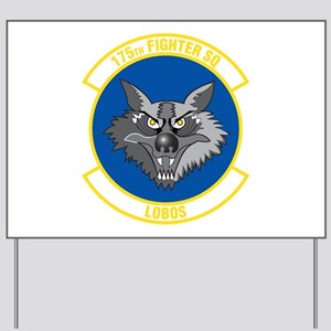 175th Fighter Squadron Yard Sign