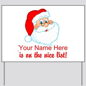 Personalized Nice List Yard Sign