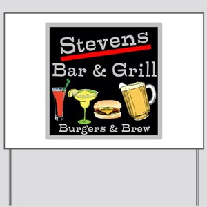 Personalized Bar and Grill Yard Sign