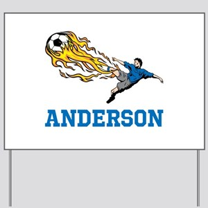 Personalized Soccer Yard Sign