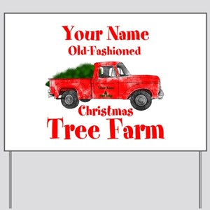 Custom Tree Farm Yard Sign