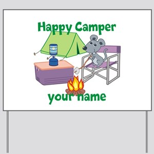 Custom Happy Camper Mouse Yard Sign