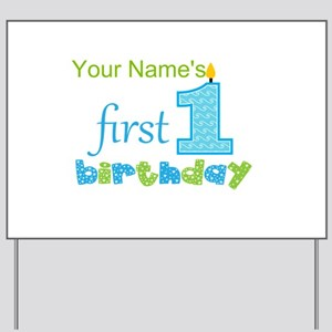 First Birthday - Personalized Yard Sign