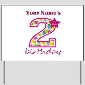 2nd Birthday Splat - Personalized Yard Sign