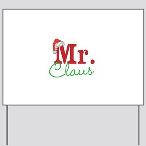 Christmas Mr Personalizable Yard Sign