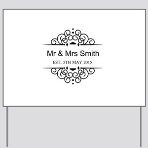 Custom Couples Name and wedding date Yard Sign