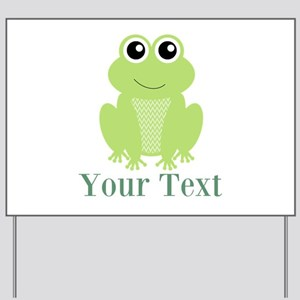 Personalizable Green Frog Yard Sign