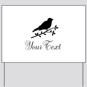 Personalizable Bird Silhouette Yard Sign