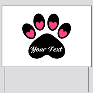 Personalizable Paw Print Yard Sign