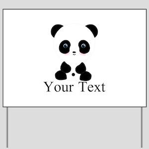 Personalizable Panda Bear Yard Sign