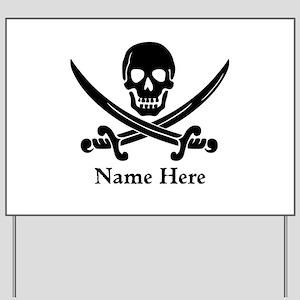 Custom Pirate Design Yard Sign