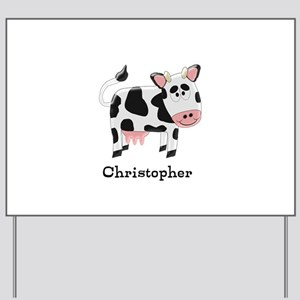 Cow Just Add Name Yard Sign