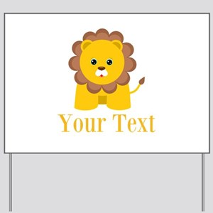 Personalizable Little Lion Yard Sign