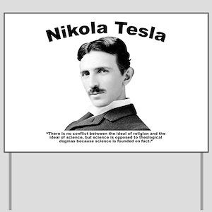 Tesla: Religion Yard Sign