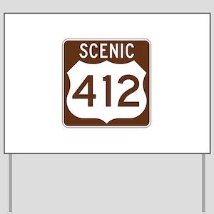 Scenic 412, Oklahoma, USA Yard Sign